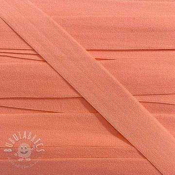 Bias binding elastic matt 20 mm apricot