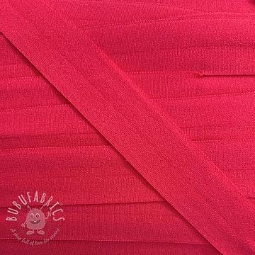 Bias binding elastic matt 20 mm apricot pink