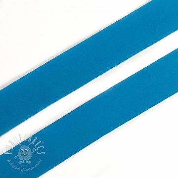 Bias binding elastic matt 20 mm aqua