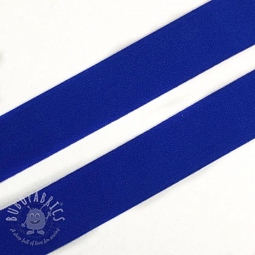 Bias binding elastic matt 20 mm blue