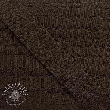 Bias binding elastic matt 20 mm dark brown