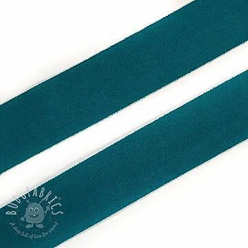 Bias binding elastic matt 20 mm dark green