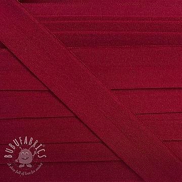 Bias binding elastic matt 20 mm dunkelrot