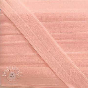 Bias binding elastic matt 20 mm light apricot