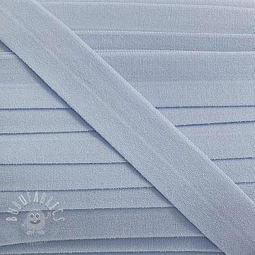 Bias binding elastic matt 20 mm light blue
