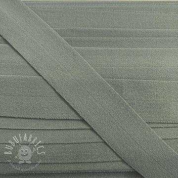 Bias binding elastic matt 20 mm light grey