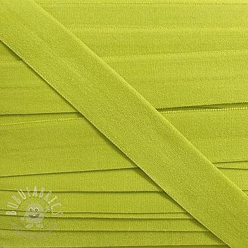 Bias binding elastic matt 20 mm light lime