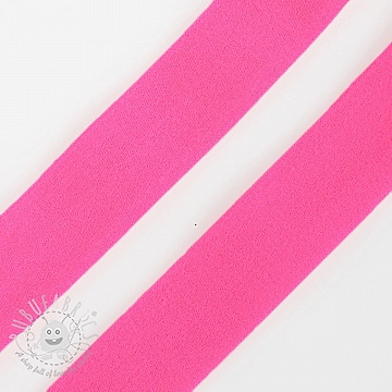 Bias binding elastic matt 20 mm neon pink
