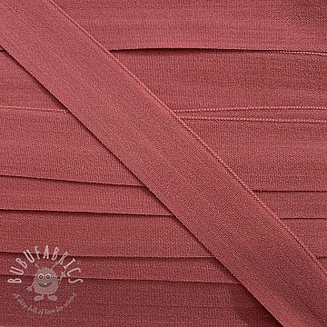 Bias binding elastic matt 20 mm old pink