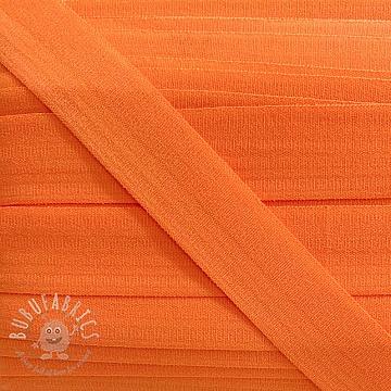 Bias binding elastic matt 20 mm orange