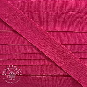 Bias binding elastic matt 20 mm pink