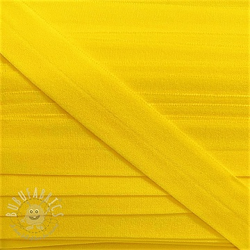 Bias binding elastic matt 20 mm yellow