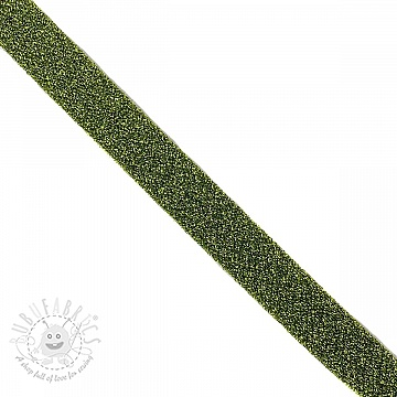 Bias binding LUREX green