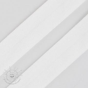 Bias binding elastic matt 20 mm white