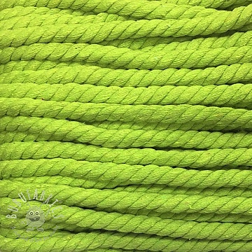 Cotton cord 15 mm lime