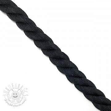 Cotton cord 2,5 cm black