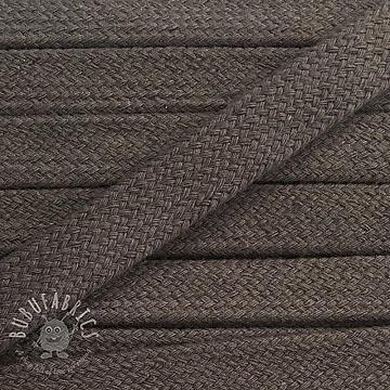 Cotton cord flat 17 mm dark grey