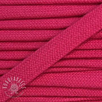 Cotton cord flat 17 mm dark pink