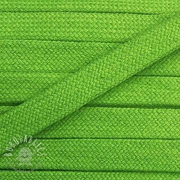 Cotton cord flat 17 mm green