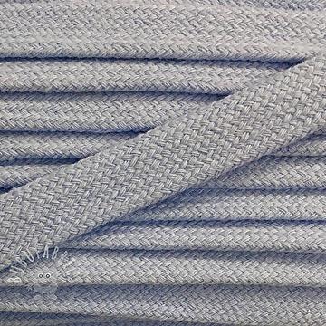 Cotton cord flat 17 mm light blue
