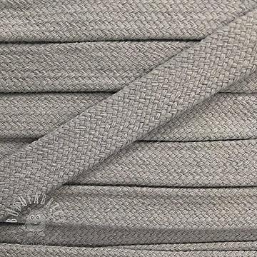 Cotton cord flat 17 mm light grey