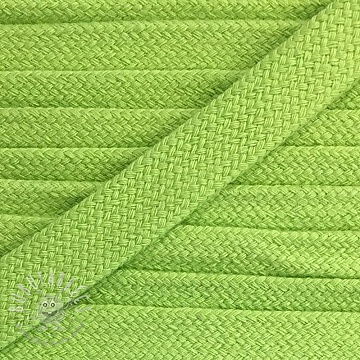 Cotton cord flat 17 mm lime