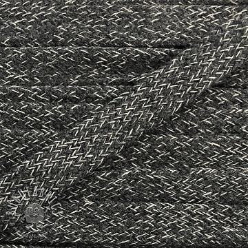 Cotton cord flat 17 mm melange dark grey