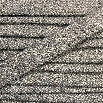 Cotton cord flat 17 mm melange light grey