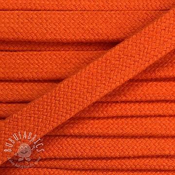 Cotton cord flat 17 mm orange