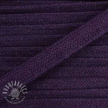 Cotton cord flat 17 mm purple