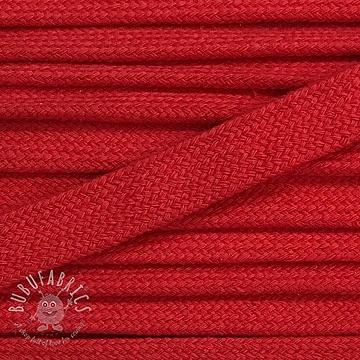 Cotton cord flat 17 mm red