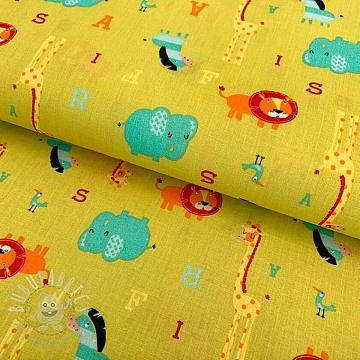 Cotton fabric Bouake green