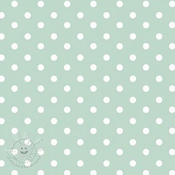 Cotton fabric Dots mint