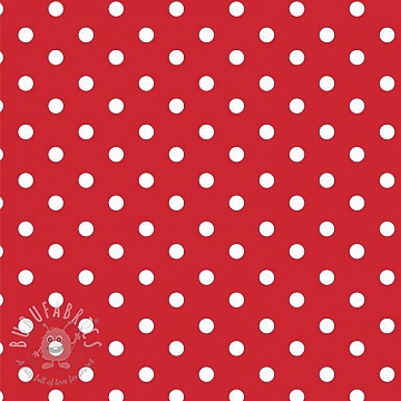 Cotton fabric Dots red