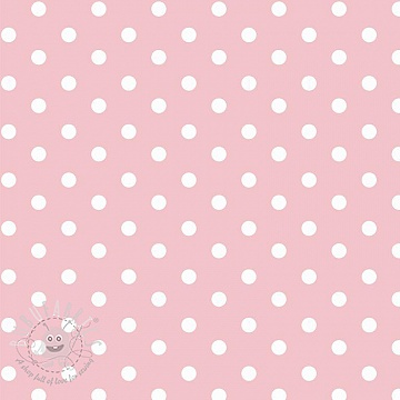 Cotton fabric Dots rose