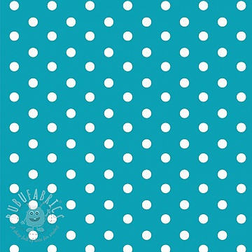 Cotton fabric Dots turqouise