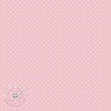 Cotton fabric Petit dots rose