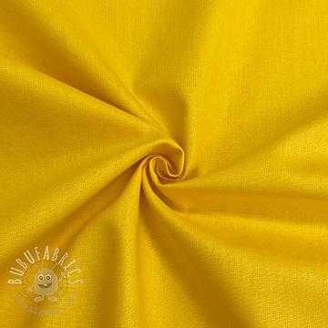 Cotton poplin GOTS yellow