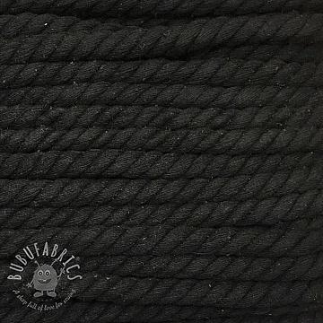 Cotton cord 15 mm black