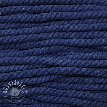 Cotton cord 15 mm blue
