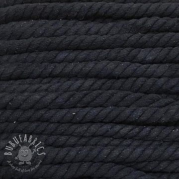 Cotton cord 15 mm dark blue