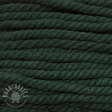 Cotton cord 15 mm dark green