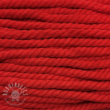 Cotton cord 15 mm red