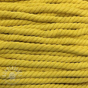 Cotton cord 15 mm yellow