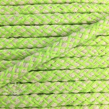 Cotton cord 1 cm lime