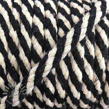 Cotton cord 5 mm black