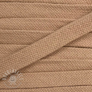 Cotton cord flat 17 mm beige