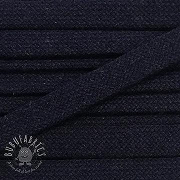 Cotton cord flat 17 mm night blue