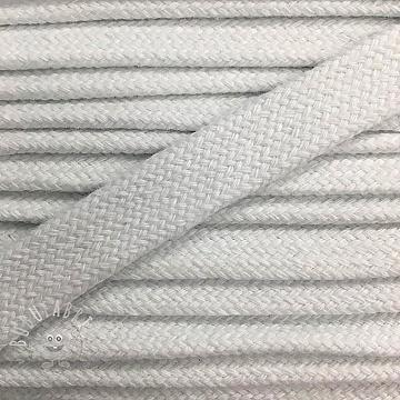 Cotton cord flat 17 mm white