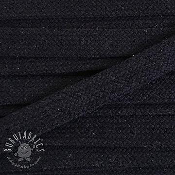 Cotton cord flat 17 mm black
